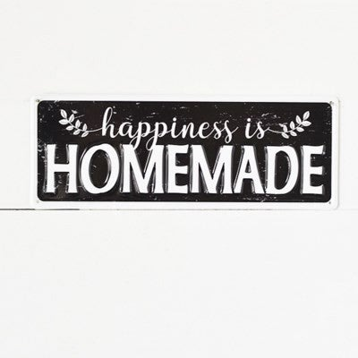HAPPINESS HOMEMADE TIN SIGN