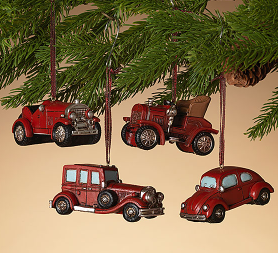 "3.5""L Resin Vehicle Ornament Assorted"
