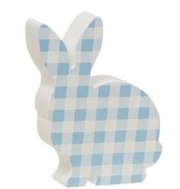 Blue & White Buffalo Check Chunky Bunny