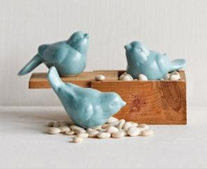"""3""""L Ceramic Bird- Assorted"""