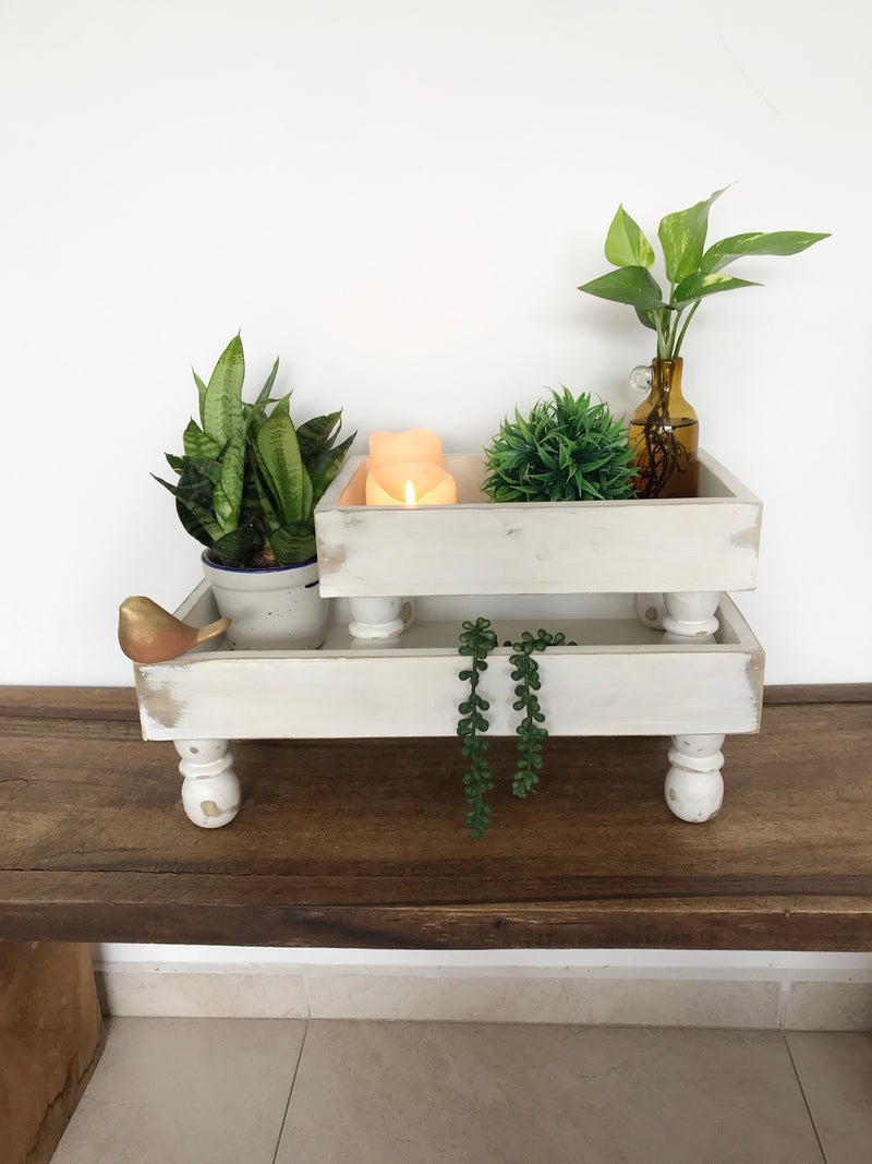 Rectangular Tray Risers with Round Feet