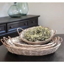 Gray Willow Round Basket