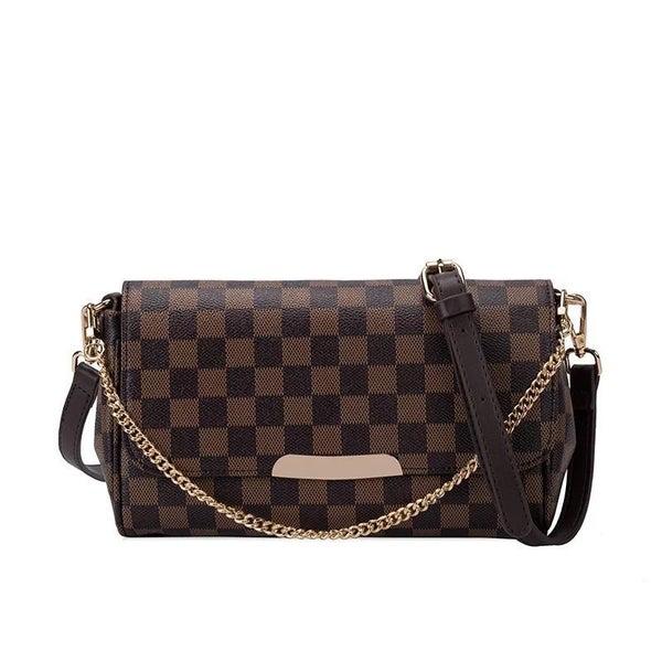 Checkered Cross Messenger Bag