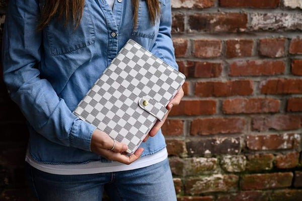 CHECKERED GOLD RING JOURNAL/PLANNER