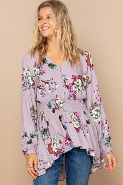 Floral Button Down Blouse