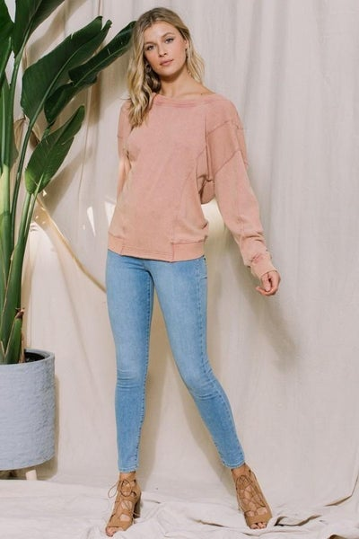 Twist Back Reversible Pullover