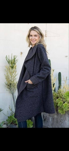 Sheep Feather Open Front Coat