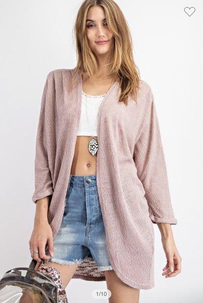 Light knit Dolman Sleeve Cardigan