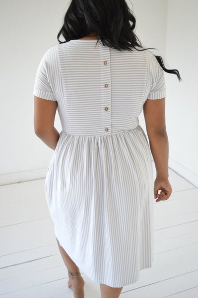 Button Away Midi-Dress