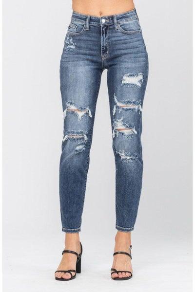 Hi- Rise Boyfriend Judy Blue Jeans