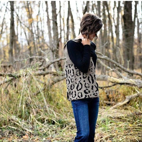 Leopard Sweater Tote