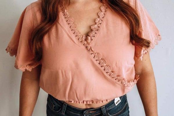 Cropped Pink Cross Shirt