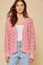 Soft Textured Knit Cardigan