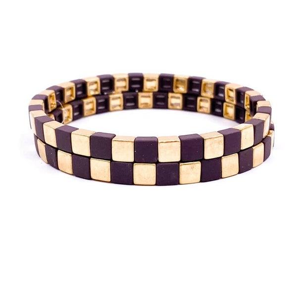 Mad Hatter Bracelet Set -Brown