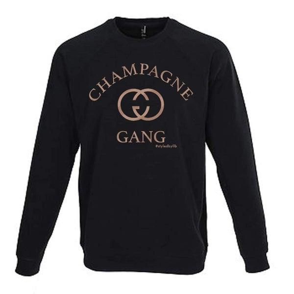Champagne Gang Crew Neck Sweatshirt
