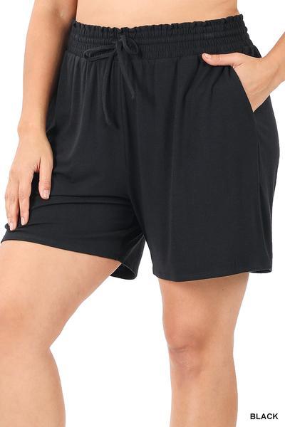 Drawstring Paper-bag Waist Shorts