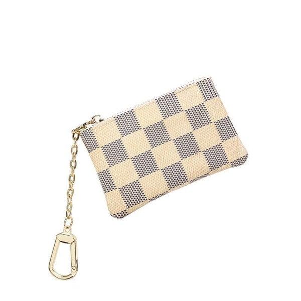 Checkered Key Chain Coin Purse