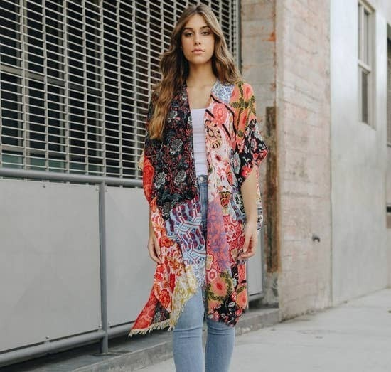 boho patchwork kimono