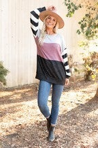stripe betty top