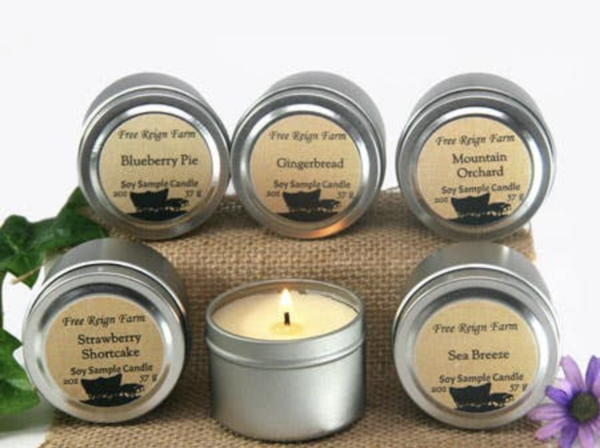 gift size soy candles