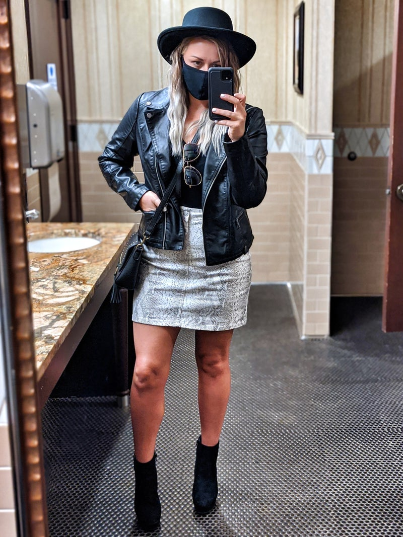Lacey snake skin skirt (small only)
