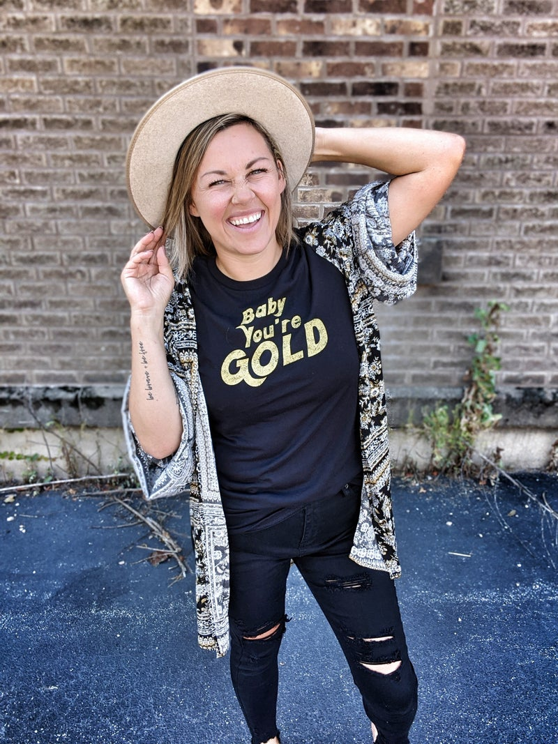 the baby you gold tee