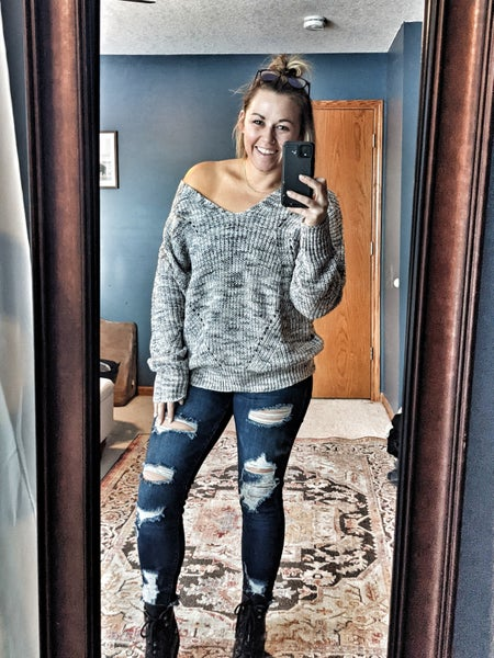 caitlin criss cross sweater