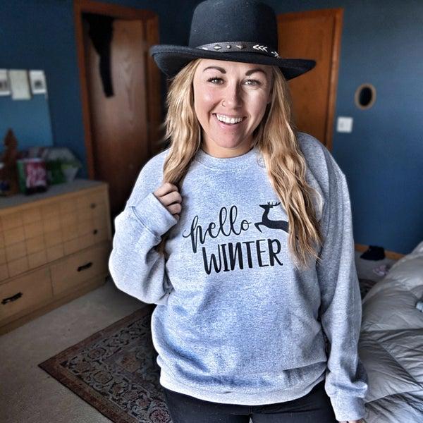 hello winter pullover