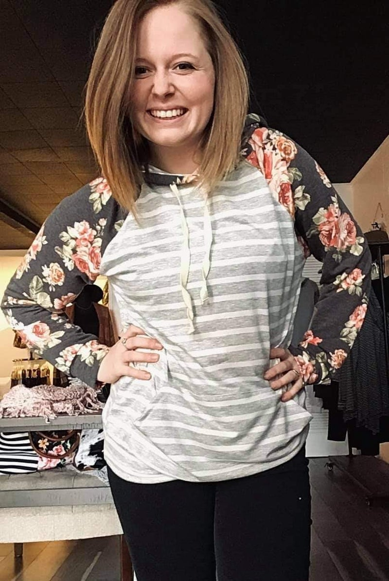 fancy floral hoodie {small only}