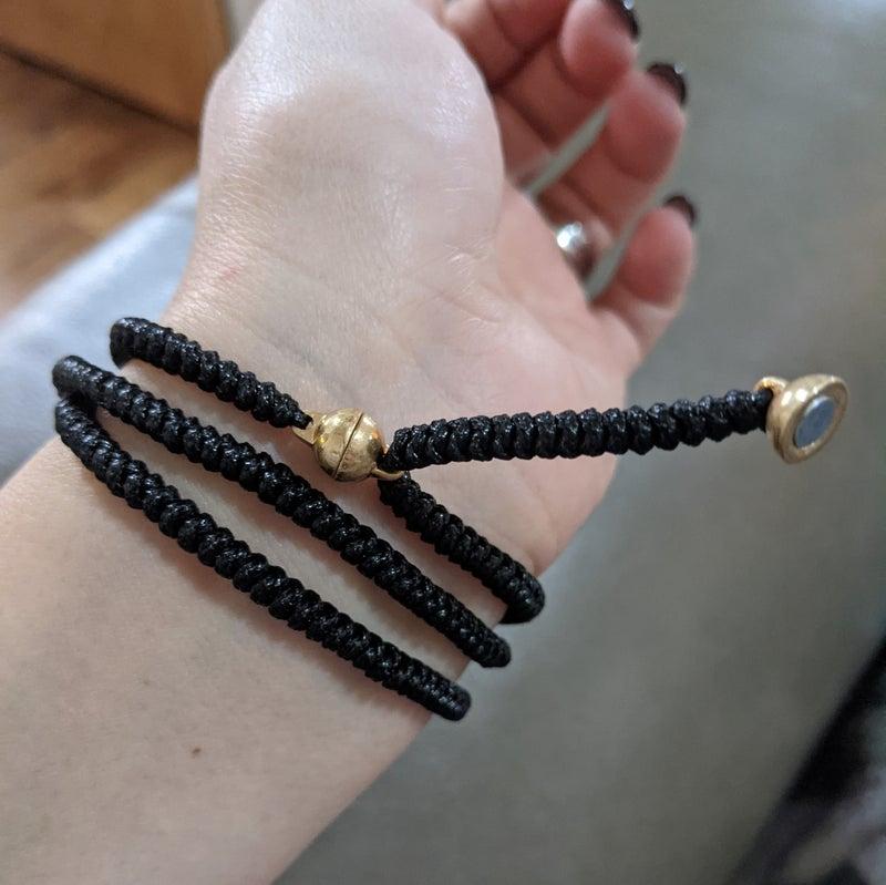 black cord jewels {magnetic bracelet or necklace}