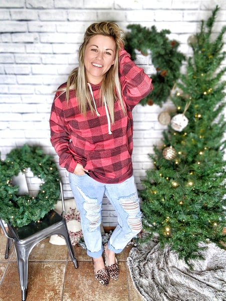 buff sweatshirt {faded red}