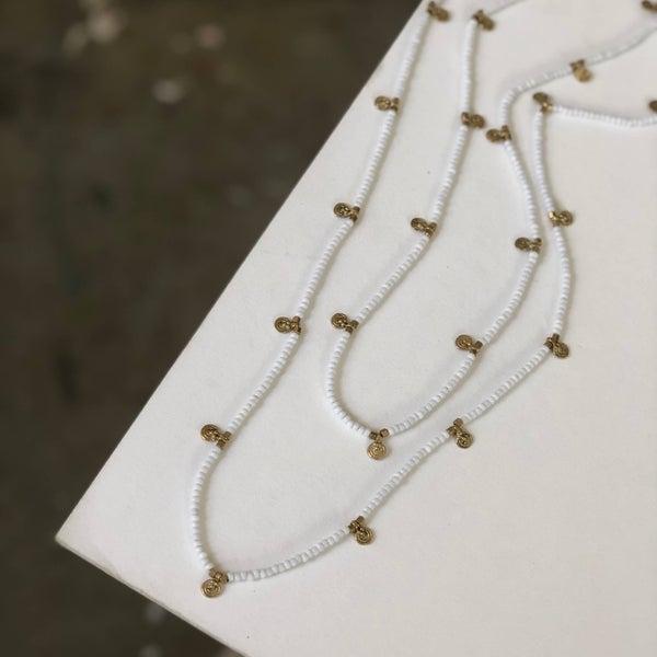 Billie white wrap necklace *Final Sale*