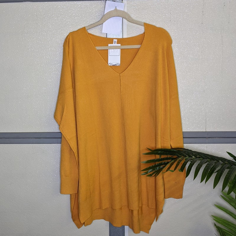 mustard long sleeve tunic