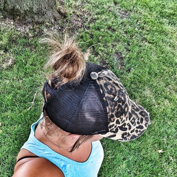 babes cross cross pony hat