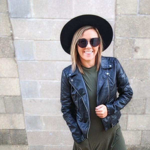 Onyx {faux} leather jacket