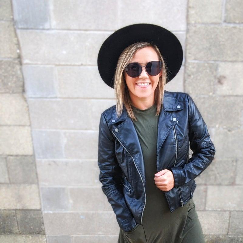 Onyx {faux} leather jacket {xs + s}