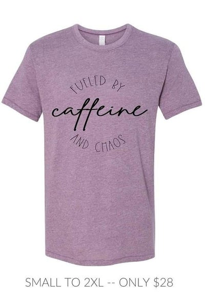 fueled by caffeine+chaos {l&q tee}
