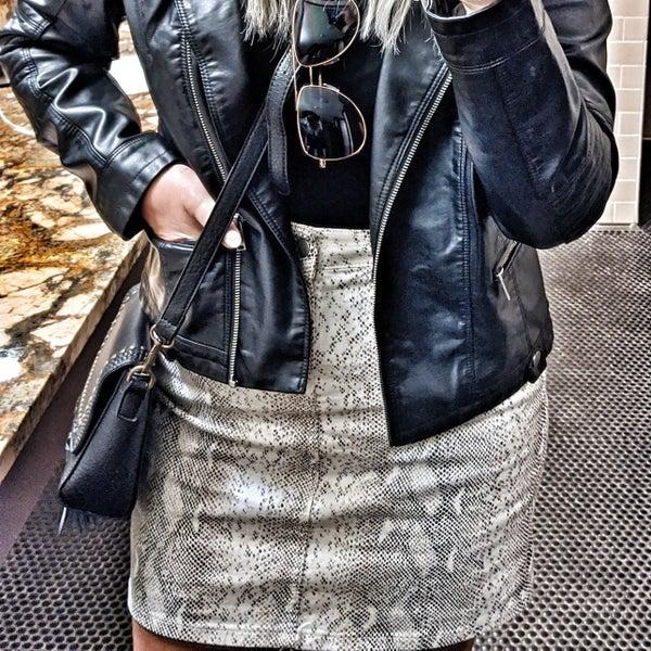 Lacey snake skin skirt