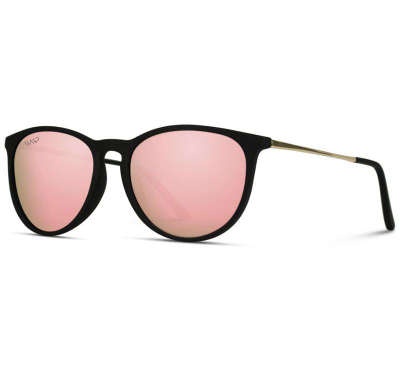 lola pink mirror round shades