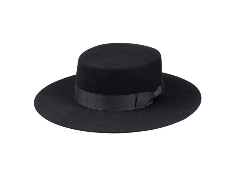 lux stiff wide brim hat