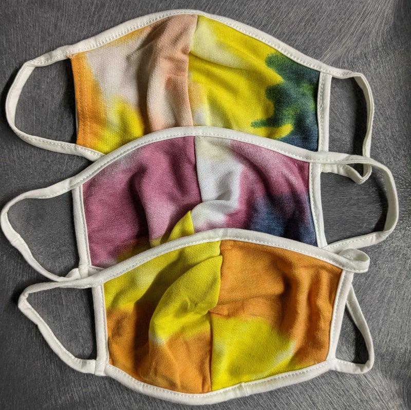 tie dye random mask {very soft}