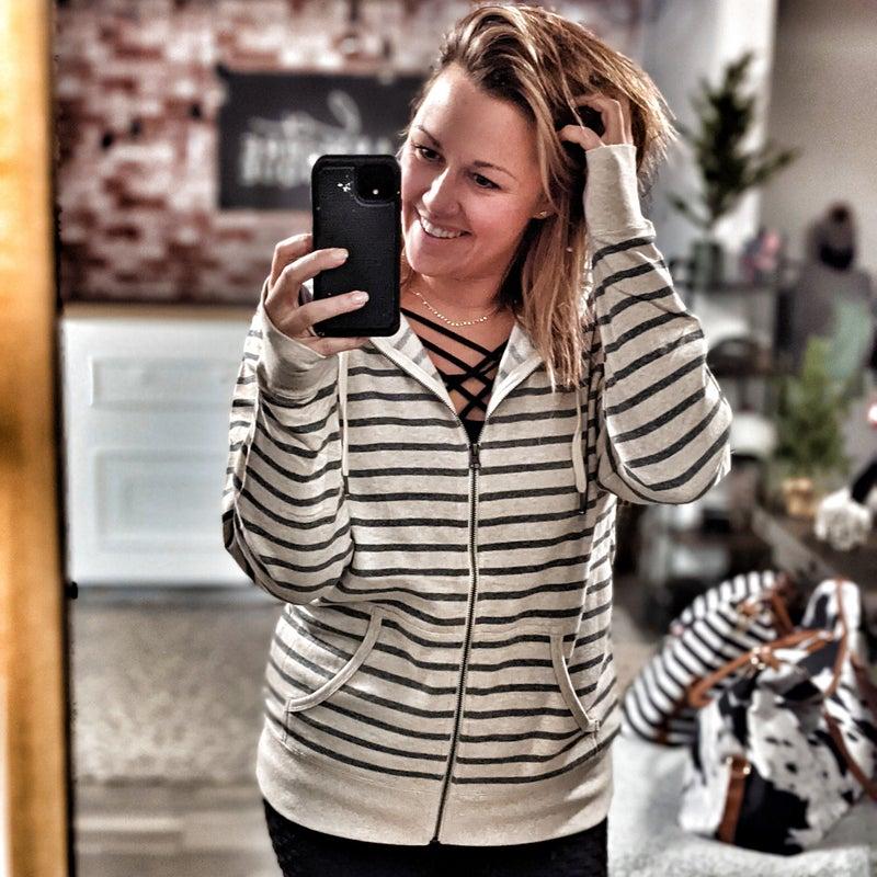 stripe brynnish hoodie