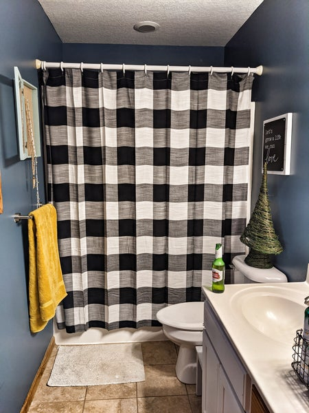 buffalo obsessed shower curtain