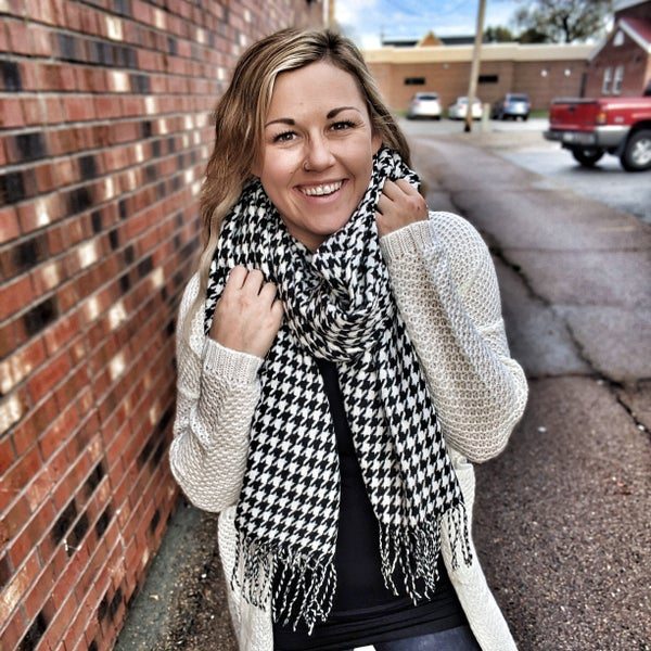 houndstooth babe scarf