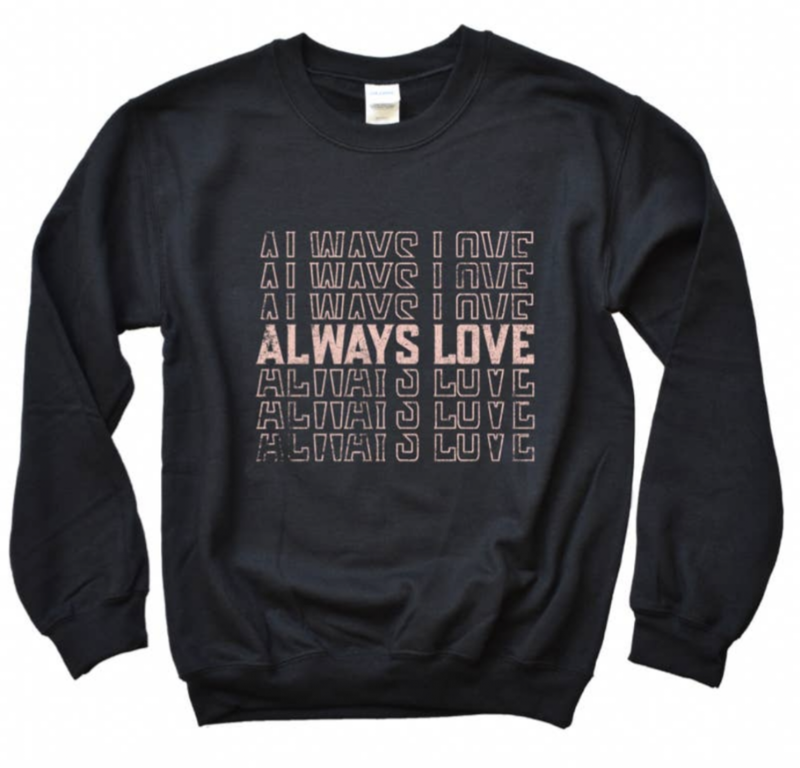 coziest LOVE ALWAYS pullover {small + large}