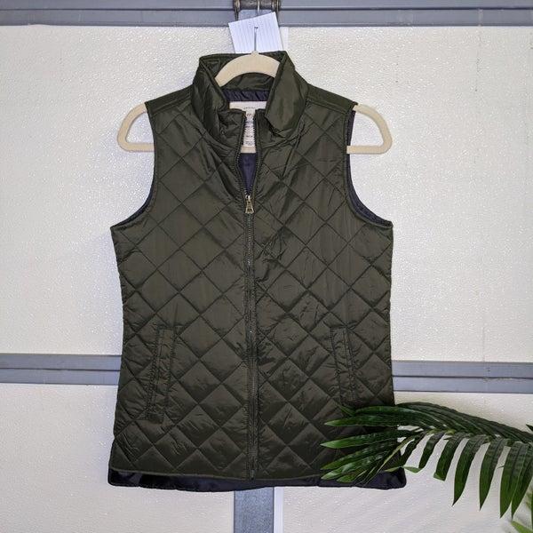 puff vest {small olive}