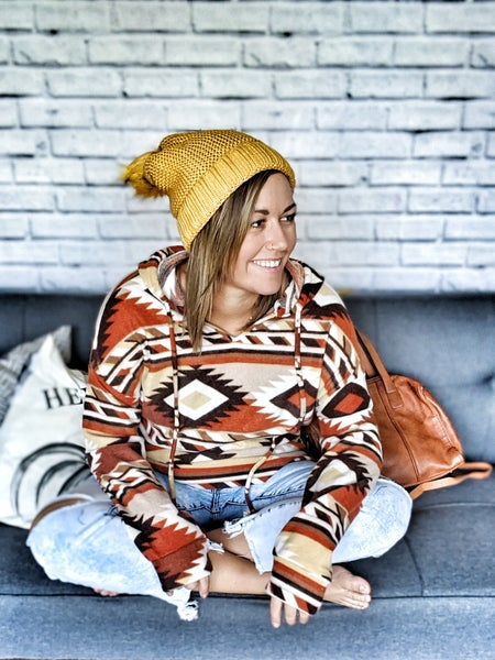 delia aztec hoodie
