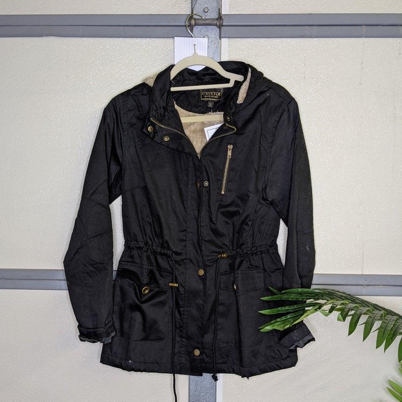 Fur hood jacket