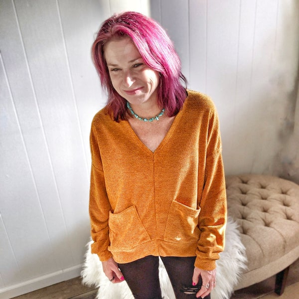 marley mustard sweater