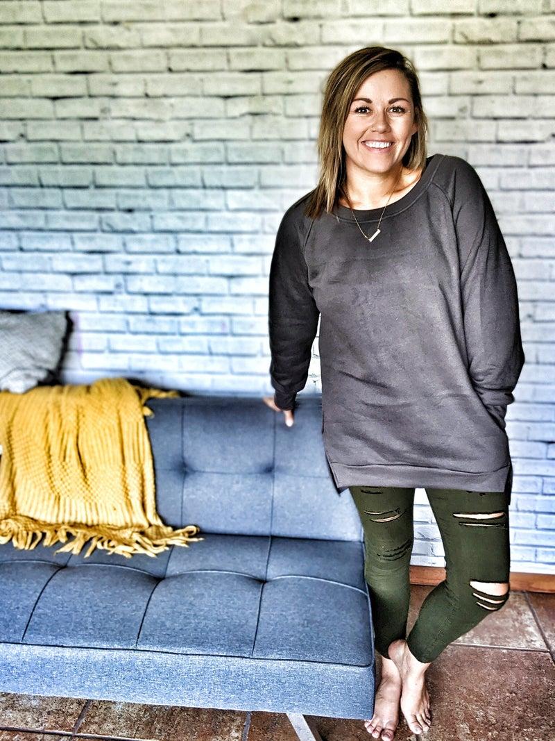 hazel cozy pullover